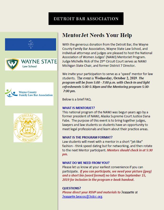 MentorJet - Wayne County Family Bar Assocaition, Wayne State